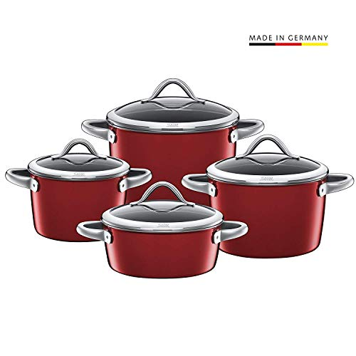 Silit 0015.1868.11 Saucepan Set Vitaliano Rosso Set of 4