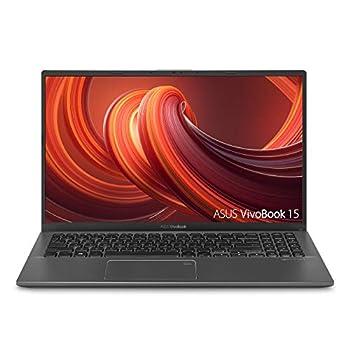 "ASUS VivoBook 15 Thin & Light Laptop 15.6"" FHD Display AMD Quad Core R7-3700U CPU 8GB DDR4 RAM 512GB PCIe SSD AMD Radeon Vega 10 Graphics Fingerprint Windows 10 Home Slate Gray F512DA-NH77"