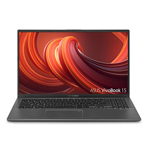 "ASUS VivoBook 15 Thin and Light Laptop, 15.6"" FHD, Intel i3-1005G1 CPU, 8GB RAM, 128GB SSD, Backlit KB, Fingerprint, Windows 10 Home in S Mode, F512JA-AS34, Slate Gray"