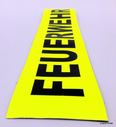 FEUERWEHR 3M Reflex-Rückenschild 38x8cm matt Zitronengelb