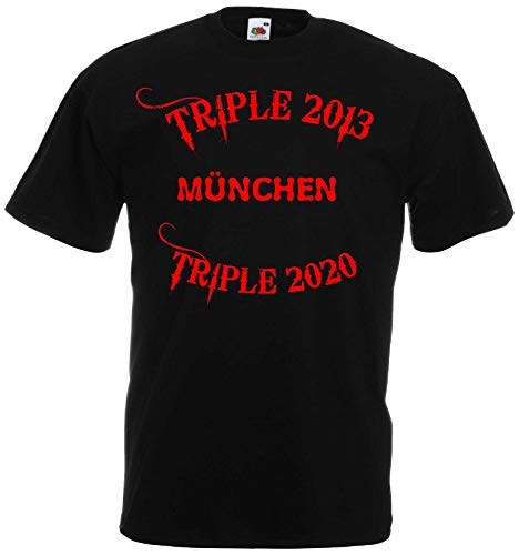 World of Shirt München Mia San Triple Meister T-Shirt Herren Ultras