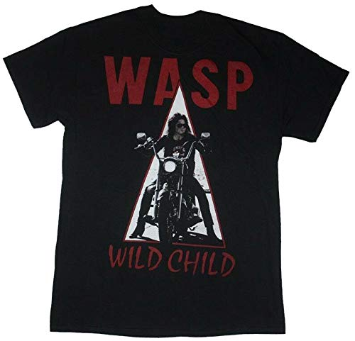 W.A.S.P.Wild Child'85 Wasp Heavy Metal Band Twisted Sister New Black T-Shir
