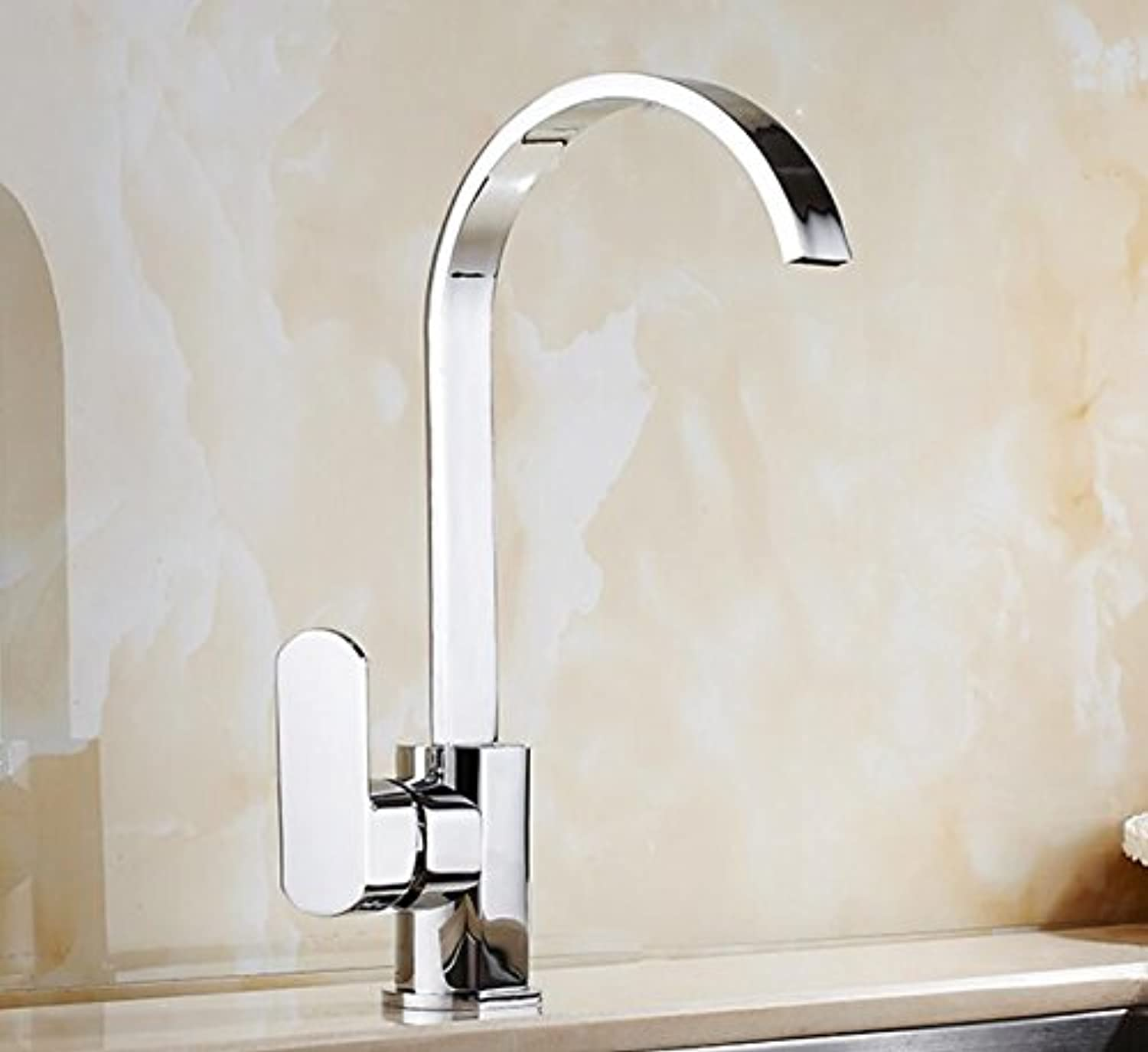 Mkkwp Bathroom Basin Mixer Tap Waterfall Water taps Faucet Vessel Mixer Brass Tap Kitchen Faucet