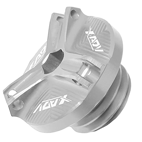 con el Logotipo de xadv m20 * 2 5 CNC Taza de Tanque de Combustible de Motocicleta Apto para Scooter de Aventura H/Onda X-ADV 2019 2018 2017-astilla