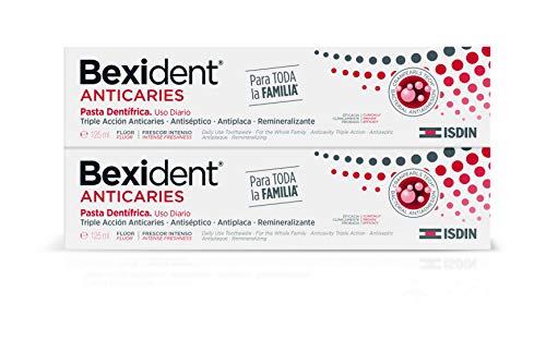 Isdin Bexident Anticaries Pasta Dentrífica, Uso Diario, Triple acción anticaries, Para toda la familia 2 x 125 ml