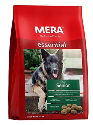 MERA essential Hundefutter > Senior < Für ältere Hunde - Geflügel Trockenfutter mit Chondroitin & Glucosamin für die Gelenke - Ohne Weizen & Zucker (12,5 kg)
