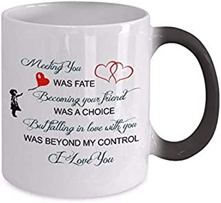 Color Changeing Mugs - Meeting You Was Fate - Coupled Mug, Soul Mate Coffee Mug