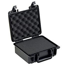 "Seahorse SE-300F Protective Case with Foam 1 Seahorse Exterior Dimensions: 10.78"" x 9.75"" x 4.83"" - Interior Dimensions: 9.50"" x 7.35"" x 4.10"". Case weight: 2.65 lbs. Watertight, Airtight and Crush Resistant protection for your valuables."