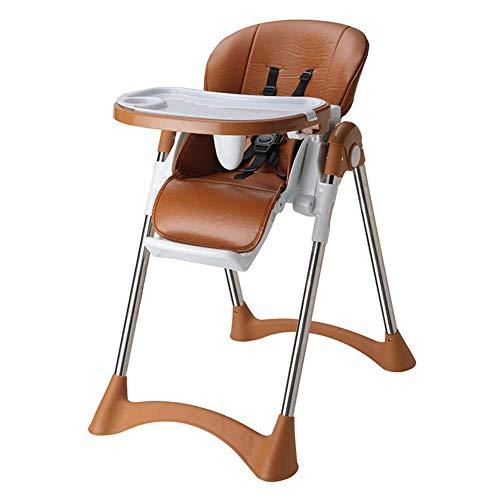 BBG Mode Kreative Kleine Möbel Anti-Slip Hocker Baby Hochstühle Esstisch Stühle Mehrzweck mit Flaschenzug kann für 0-5 Jahre alt eingestellt Werden Multifunktionshaushalt kreativ,Braun,Gewöhnliche Mo