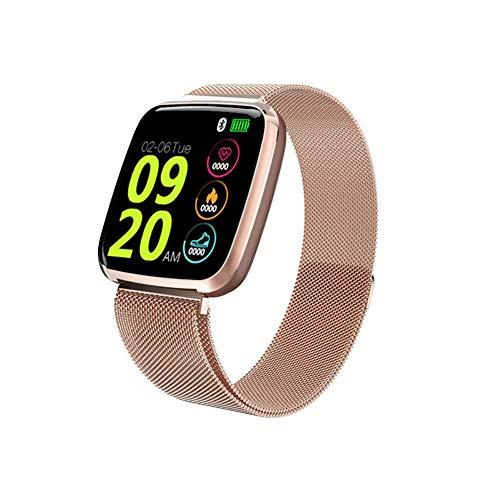 Jesusloveyou1 Smartwatch, waterdicht IP67, fitnesstracker, kleurendisplay met hartslagmeter, slaapmonitor, stappenteller, tracker, oproepherinnering, activiteitstracker voor mannen en vrouwen