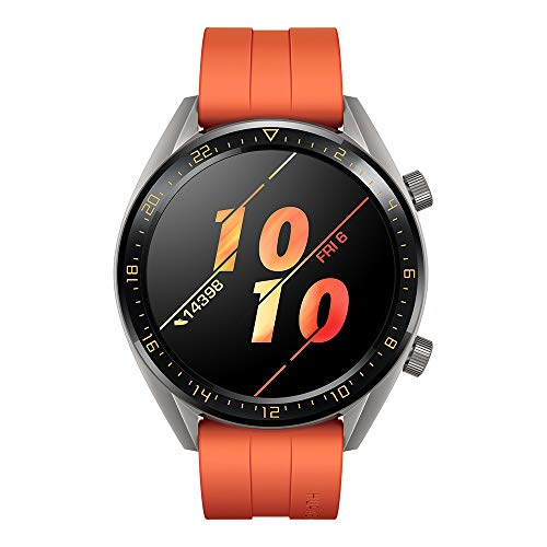 Huawei Watch GT Active Smartwatch (46 mm Amoled Touchscreen, GPS, Fitness Tracker, Herzfrequenzmessung, 5 ATM wasserdicht) Orange