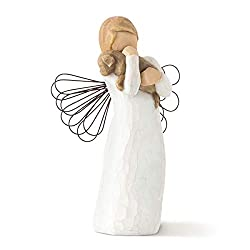 Sentiment: For those who share the spirit of friendship written on enclosure card 5 Inch hand-painted resin figure with wire wings ready to display on a shelf, table or mantel to clean, dust with soft brush or cloth A gift to celebrate friendships; e...