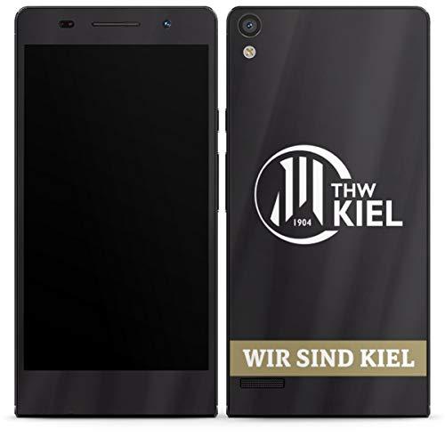 DeinDesign Folie kompatibel mit Huawei Ascend P6 Aufkleber Skin aus Vinyl-Folie Fanartikel THW Kiel Handball