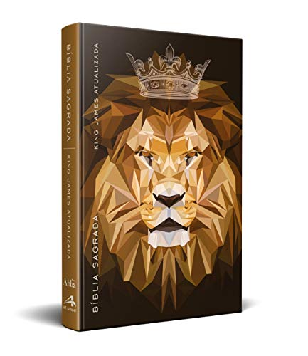 Bíblia King James Kja - Slim - Leão Marrom Coroa