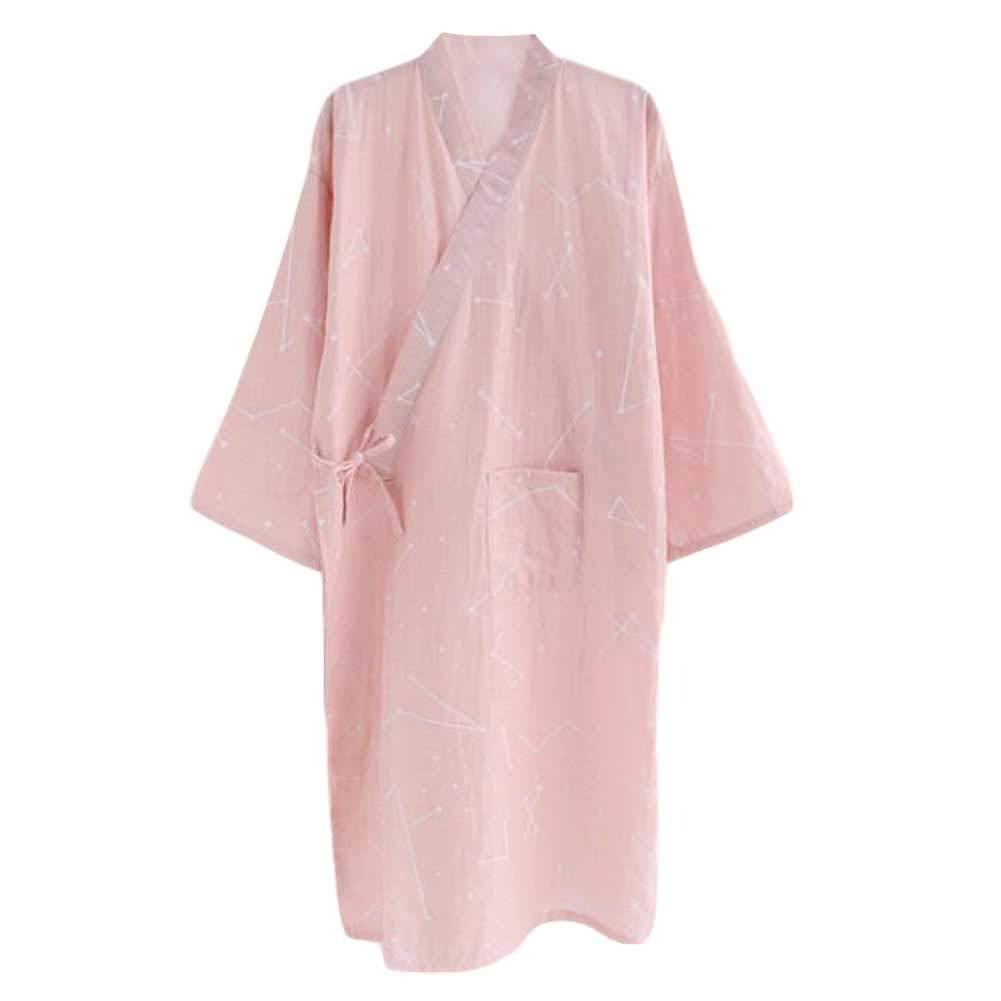 Pigeon Fleet Mujeres Algodón Kimono Yukata Batas Novia y camisón de Dama de Honor, Rosa: Amazon.es: Hogar