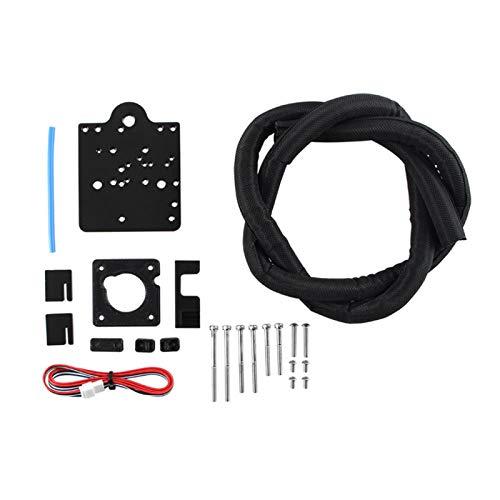 POHOVE Extruder-Adapterplatte für Direktantrieb, 3D-Druck-Upgrade Teile Ender-3 Drucker Direct Extruder Adapterplatte, Metall, 3D-Drucker Direct Drive Kit für CR-10