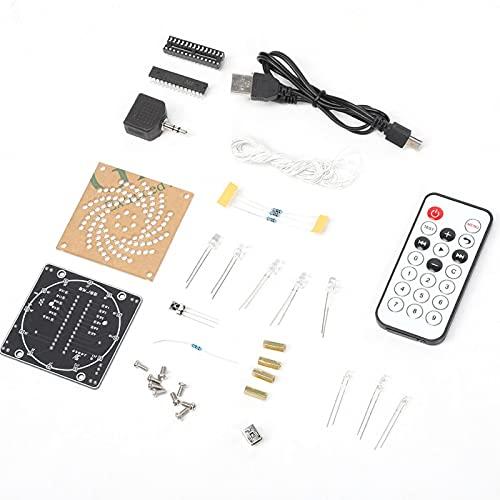 FOLOSAFENAR Electrónico, portátil, Colorido, Pantalla LED, Kit de Control Remoto, luz LED, Kits de Bricolaje, antienvejecimiento, fácil de Instalar, 16 animaciones Fuera de línea