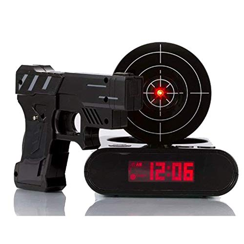 changshuo Reloj DespertadorGadget Target Pistola De Disparo Láser Reloj Despertador Reloj De Escritorio Electrónico Digital Reloj De Mesa Reloj Nixie Snooze Target Gaming Clock