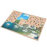 LAVIEVERT Rompecabezas de madera con superficie antideslizante para hasta 1000 piezas
