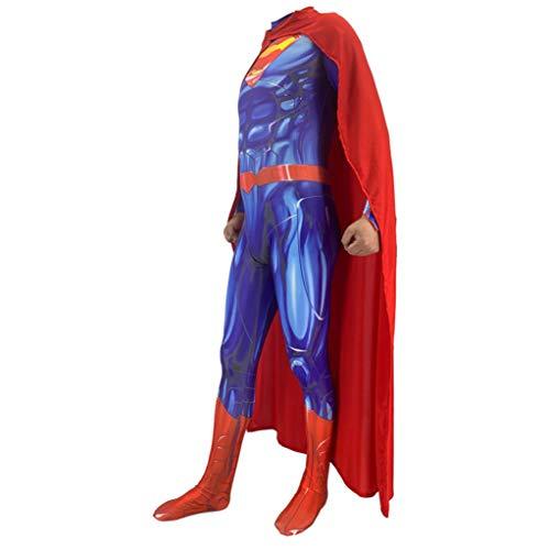 NVHAIM Traje de Cosplay de Anime Superman, Nios Adulto El Hombre de Acero Fans de la pelcula Superhero Ropa del Mono de Fantasa Juego de Vestir, Traje de rol Siameses Medias Traje de Batalla