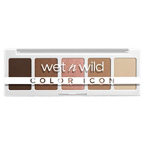 wet n wild, Paleta Color Icon 5-Pan, Paleta de Sombras de Ojos, 5 Colores Intensamente Pigmentados para el Maquillaje Diario, Fórmula de Larga Duración y Fácil de Difuminar, Walking On Eggshells