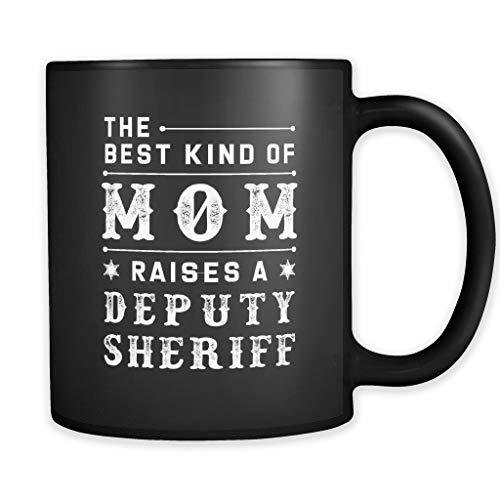 Taza de regalo para mamá de sheriff para mamá de sheriff adjunto, mamá, sheriff, mamá, regalo de alguacil, regalo para la madre de la alguacil, mejor mamá rescata al alguacil, 12 onzas