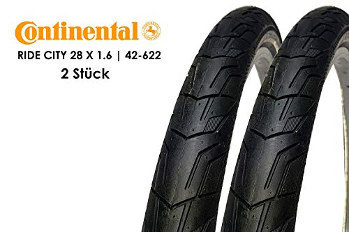2 Stück 28 Zoll Continental Ride City Fahrrad Reifen 42-622 Mantel 28x1,6 Tire schwarz