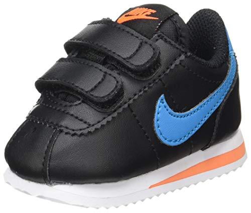 Nike Cortez Basic SL TDV, Zapatillas de Gimnasio Unisex niños, Black/Laser Blue/Hyper Crimson/Metallic Silver, 34 EU