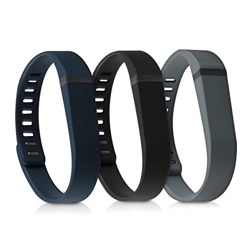 kwmobile Silicone Watch Strap Compatible with Fitbit Flex