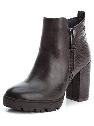 XTI Damen Stiefelleten Boots 49451X Grau 38 EU