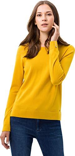 BRAX Damen Style Liz Feel Luxury Rundhals Pullover, Honey, (Herstellergröße: 40)