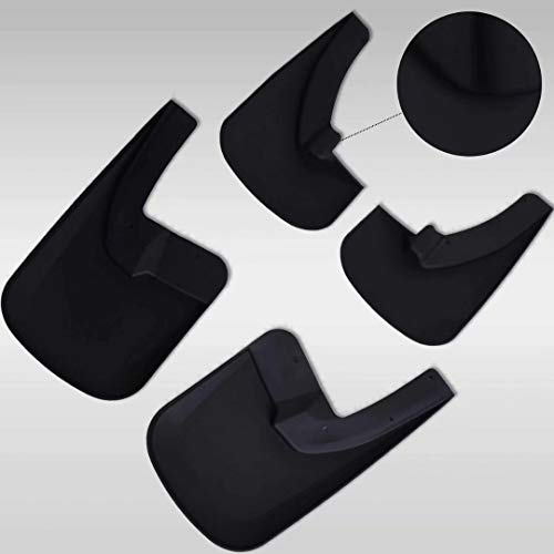 LAUTO 4Pcs Set Front Rear Car Mudflaps Mud Splash-proof Plate Splash Guard Fender For Ford Edge 2015-2018