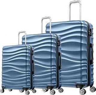 حقائب سفر بعجلات من 3 قطع من ار اند اف - لون أزرق - RF-001