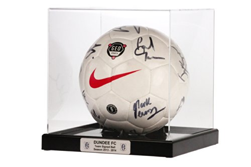 Dream Keepers Football Display Case with Stunning Personalised Plaque (Black)