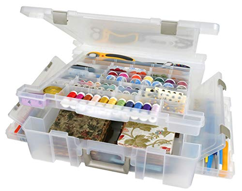 ArtBin Super Satchel Deluxe 1-Compartment/Divided Base-Clear, 6981AB by ArtBin