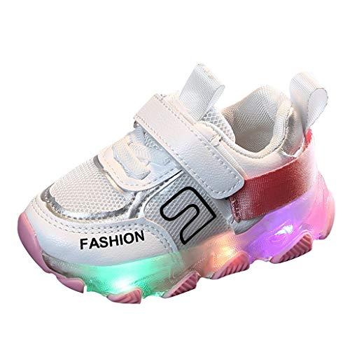 LED Leuchtende Mädchen und Jungen Kleinkind Mode Stern Leuchtendes Kind Bunte helle Schuhe Kinder Schuhe mit Licht Blinkende Turnschuhe für Kinder