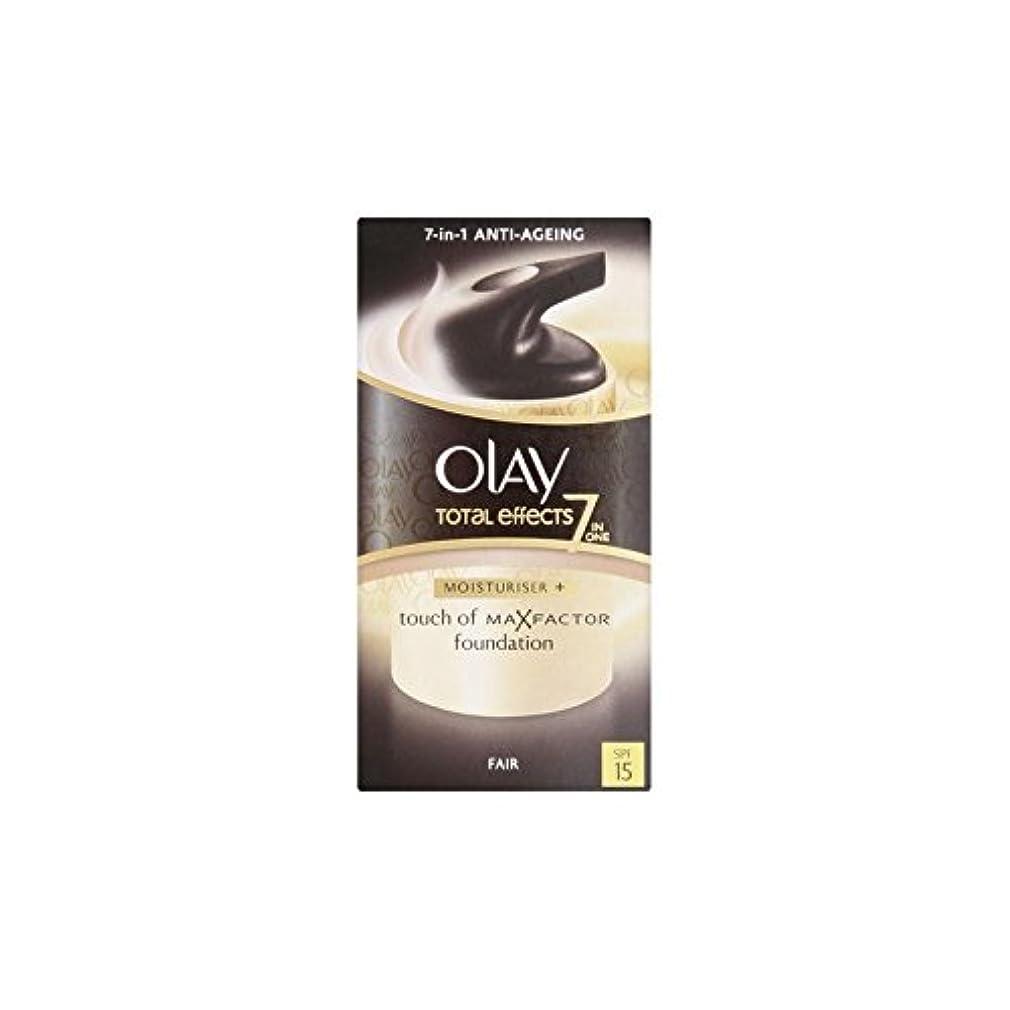 告白断言する究極のOlay Total Effects Moisturiser Bb Cream Spf15 - Fair (50ml) (Pack of 6) - オーレイトータルエフェクト保湿クリーム15 - フェア(50ミリリットル) x6 [並行輸入品]