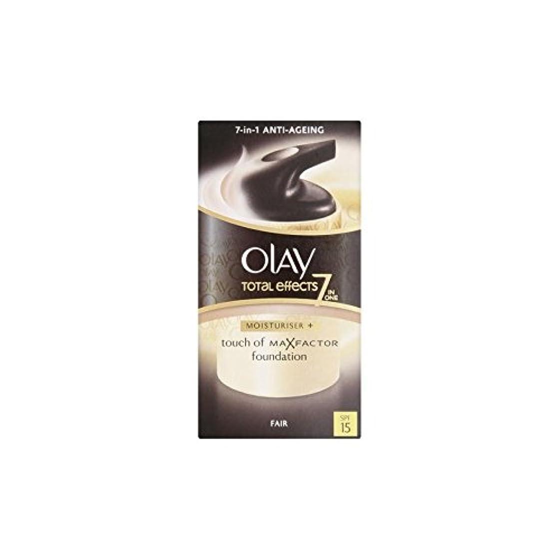 穀物申請中ジョリーオーレイトータルエフェクト保湿クリーム15 - フェア(50ミリリットル) x4 - Olay Total Effects Moisturiser Bb Cream Spf15 - Fair (50ml) (Pack of 4) [並行輸入品]