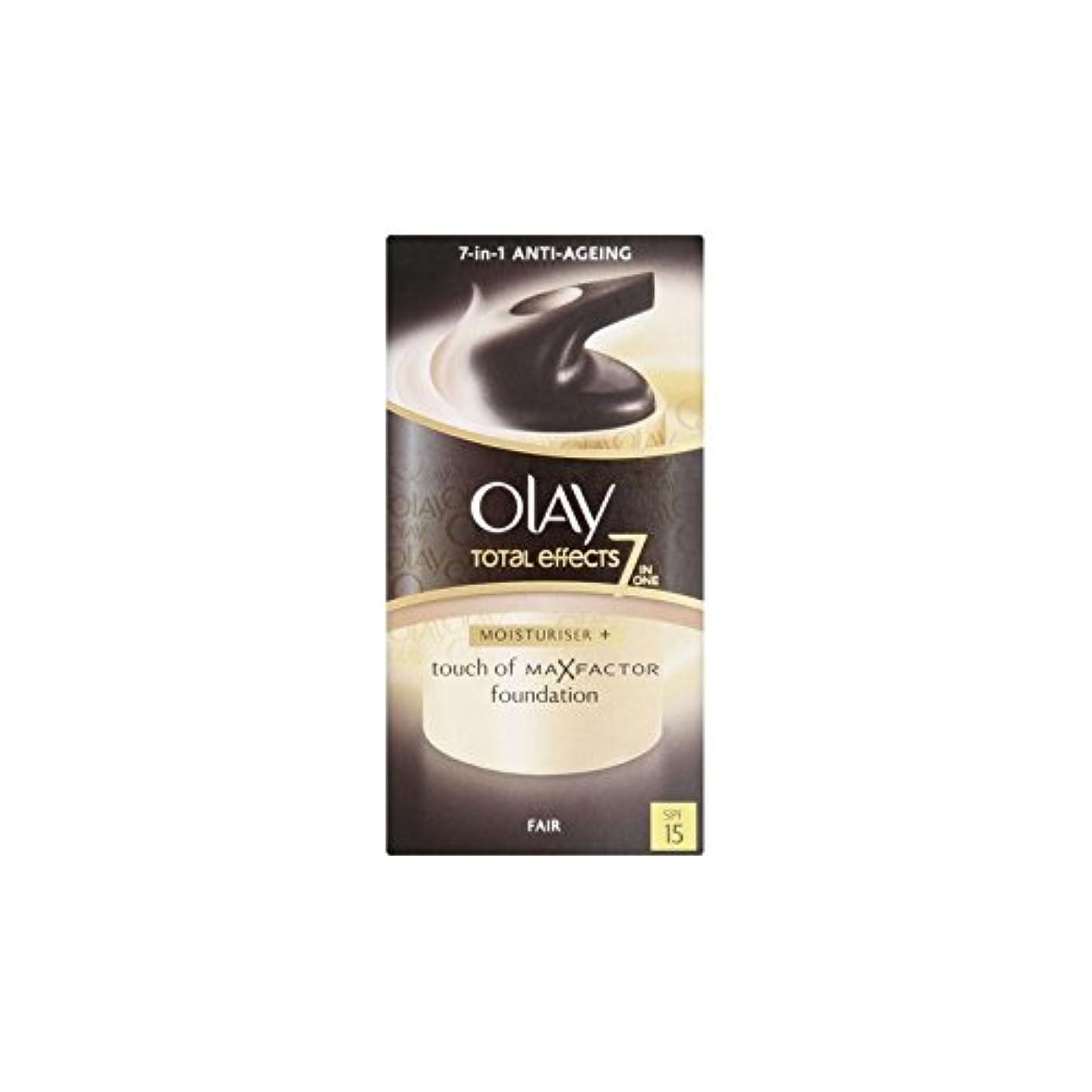 田舎者不適切な自明Olay Total Effects Moisturiser Bb Cream Spf15 - Fair (50ml) - オーレイトータルエフェクト保湿クリーム15 - フェア(50ミリリットル) [並行輸入品]