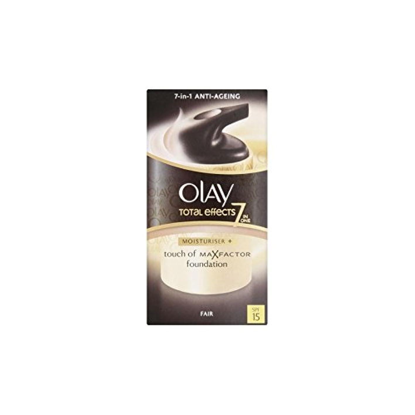 気質引数おかしいオーレイトータルエフェクト保湿クリーム15 - フェア(50ミリリットル) x4 - Olay Total Effects Moisturiser Bb Cream Spf15 - Fair (50ml) (Pack of 4) [並行輸入品]