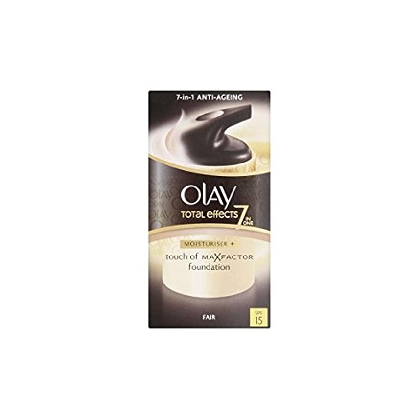 虚弱落ち込んでいる誤ってオーレイトータルエフェクト保湿クリーム15 - フェア(50ミリリットル) x4 - Olay Total Effects Moisturiser Bb Cream Spf15 - Fair (50ml) (Pack of 4) [並行輸入品]