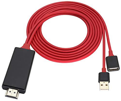 zdyCGTime HD HDMI Macho a 2 USB Hembra/Macho Cable,Teléfono y Tablet PC HDMI Mismo Cable de Pantalla 2 en 1,1080P/60HZ 2.4G HDMI HDTV Cable,Utilizado para HDTV,Proyector,Monitor,etc.(1M/1Piezas)