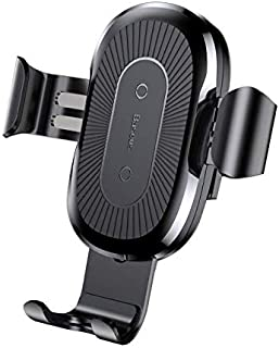 Baseus gravity stand wireless charger car 2-in-1 wireless charging stand charger - black