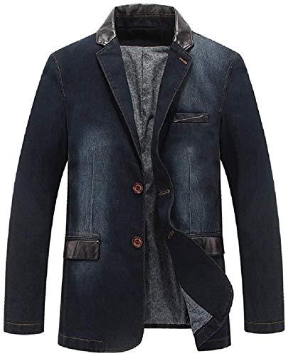 Avis N Men Business Washed Slim Fit Casual Denim Dress Blazer Jacket Sport Coat