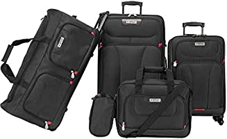 American Explorer Softside Spinner Luggage set of 5 Pieces - Black
