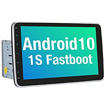 Vanku 10.1 Inch Android 10 Car Stereo Double Din with Fastboot Detachable Touchscreen GPS Support Backup Camera Android Auto Mirror Link