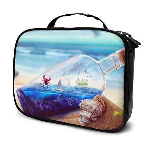 Bolsa de aseo de cangrejo de cereza, bolsa de cosméticos de gran capacidad, bolsa de maquillaje portátil, bolsa de viaje impermeable, organizador de almacenamiento para mujeres y niñas