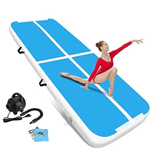 FBSPORT airtrack 20cm hoch Verdicken Aufblasbar Gymnastikmatte 3m AirTrack Matte für Gym Training Yogamatte Trainingsmatten Weichbodenmatte Turnmatte Fitnessmatte Aufblasbar Tragbar