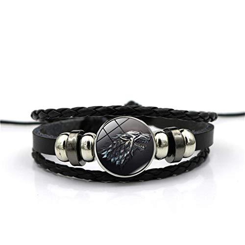 Styliee bracelet Juego Tronos Casa Stark Wolf Glass