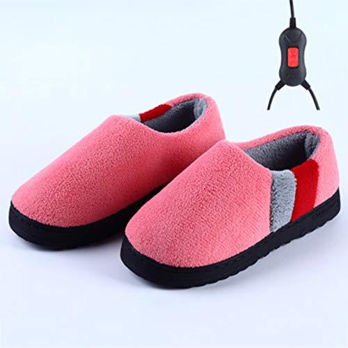 WYEZ Zapatos de calefacción eléctrica enchufables de Oficina Cálido Tesoro de pies Cubierta de Invierno Pies Calefacción eléctrica para pies Femeninos para Mantenerse Caliente,B